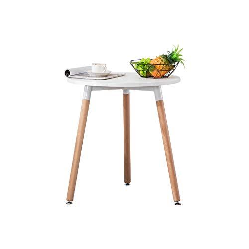 Nachttisch Nordic Kleine Teetisch Runde Seite Mehrere Freizeit-Ideen (Farbe : Weiß)