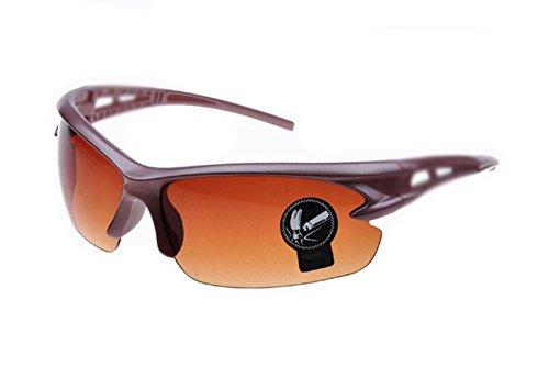 Vikenner Herren Sonnenbrille Brown Polarisierte Brille Dekorative brille ohne sehstärke Lichtschutzbrille Arbeitsplatzbrille blaulichtfilter Brille Farbe Linse Goldrahmen Schwarzer Fahrradbrille