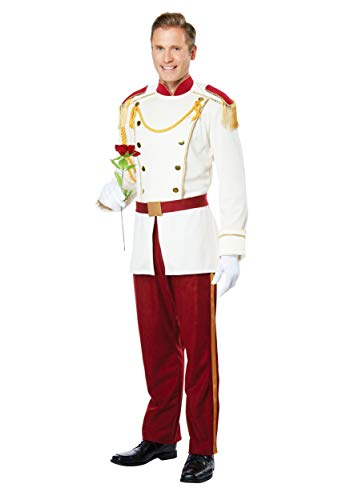 California Costumes Men's Royal Storybook Prince Costume, cream/chocolate red, Large