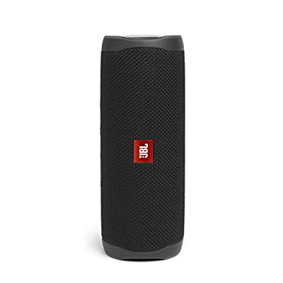 JBL Flip 5 Portable Bluetooth Speaker with Rechargeable Battery, Waterproof, PartyBoost Compatible, Midnight Black by Harman