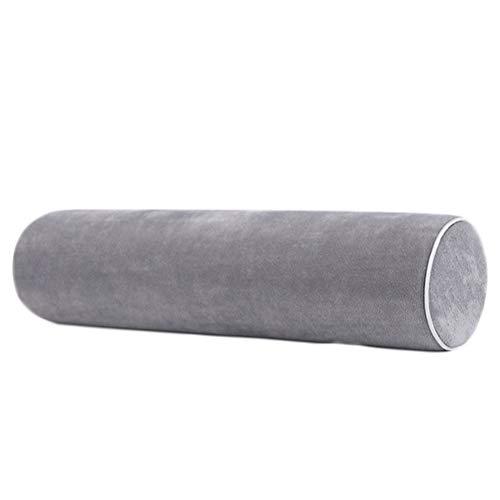 BESPORTBLE Almohada de algodón con Memoria Almohada Redonda con Forma de Caramelo Almohada para el Cuello para Hombres Mujeres