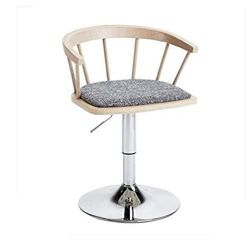 NAN liang Chaises de bar en bois massif Chaise pivotante réglable en hauteur (Couleur : Couleur du bois)