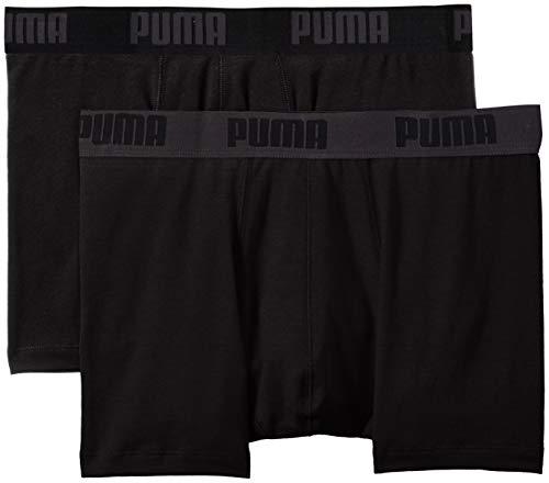 Puma 12 er Pack Boxer Boxershorts Men Herren Unterhose Pant Unterwäsche, Black, L