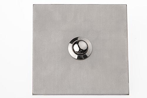 HUBER pulsador de timbre empotrado de acero inoxidable - pulsador de timbre empotrado I de latón - interruptor de timbre, timbre de puerta