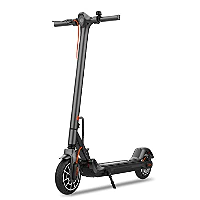 """Hiboy MAX V2 Electric Scooter - 8.5"""" Solid Tires, Up to 17 Miles & 18.6 MPH, Front & Rear Suspensions, One Step Fold Electric Scooter for Adults, Commute and Travel"""