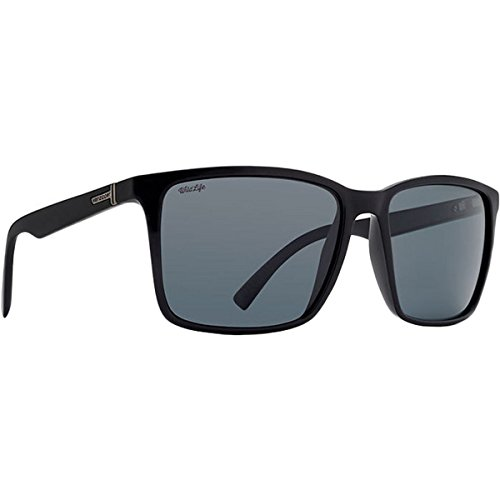 Von Zipper Lesmore Wildlife Polarized Glass Sunglasses-Black Gloss-Black Smoke