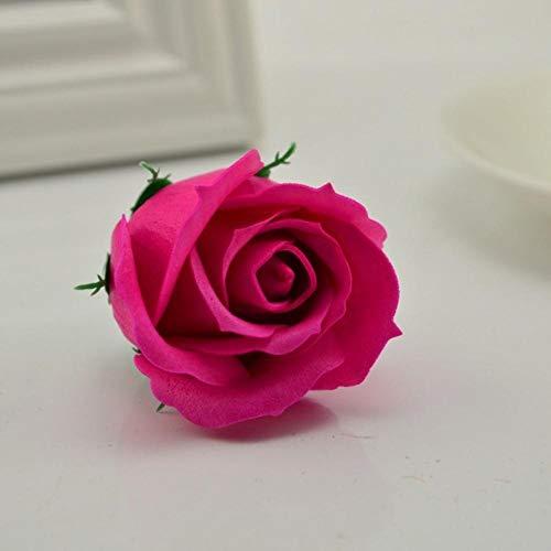 5 stks/partij 5x6 cm goedkope zeep rose hoofd romantische bruiloft valentijnsdag gift bruiloft banket woondecoratie hand bloem art, rose rood