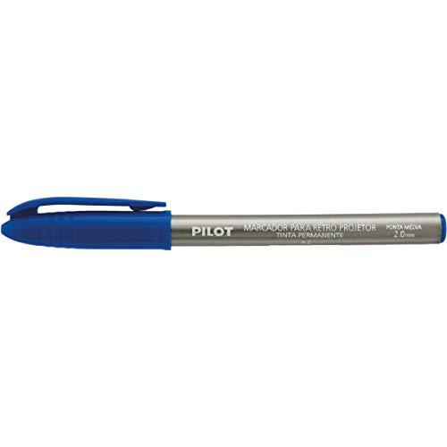Caneta Retroprojetor x 12 Unidades, Pilot 1430007AZ, Azul, 2 mm