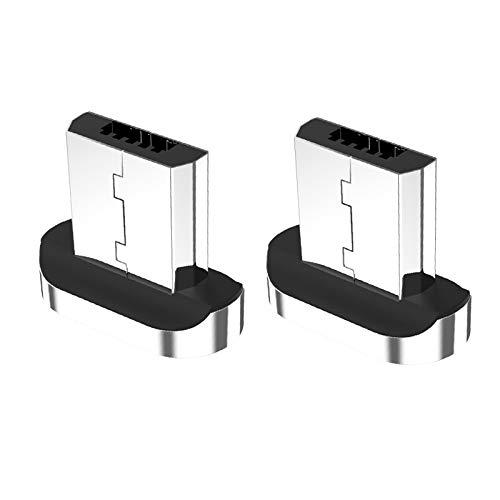 Micro usb アダプター マグネット式充電プラグ 個別販売 急速充電 データ転送 マイクロUSB各種スマホ/タブレット対応 (Micro USB コネクタ*2)