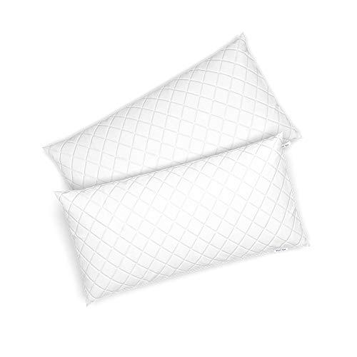 VitaliSpa 2er Set Microfaser Kopfkissen Allergiker geeignet Kissen weiß 3 Größen (40 x 80 cm)