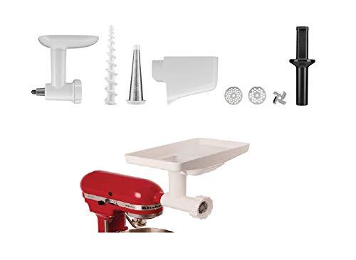 KitchenAid UK 5KSMFVSFGA Food Grinder Attachment and Vegetable Strainer, Steel with large food tray compatible with 5KSMFGA + 5KSMFVSP
