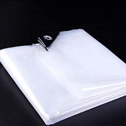 JFBZS Plane transparent, Abdecktuch Film Papier Regenschutz Stoff Plane Sukkulente Sonnenschutz Abdeckung Regenabdeckung Getreide Anbau Deckentuch transparent Stoff Kunststoff Plane-5m*10m