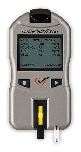CardioChek Plus Lab-Quality Blood Analyzer and Monitor - Cholesterol Test Kit – Blood Glucose Monitor. Newest Version 1.11