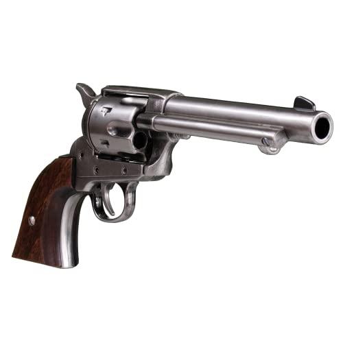 KOLSER Revolver Colt Peacemaker 5'5' USA 1873 Colore Metallo Nichel lucido e Cachas in legno ausiliario 27 cm