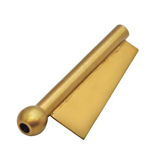 ZYCX123 Bala de Paja Sniffer Snorter Acero Inoxidable Tabaco de Tubo succionador portátil Snorter Paja de tuberías de Regalos para los Hombres (de Oro)