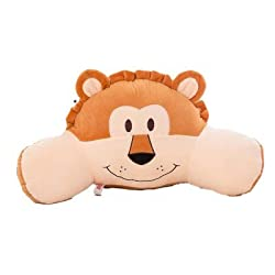 Mltao Animal Lion Reading pillow for kids. Provides Lumbar support while reading in bed.