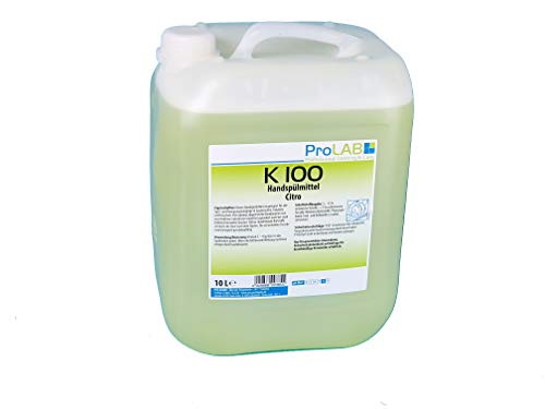 10l Kanister ProLAB Profi Geschirrspülmittel Handspülmittel Spülmittel Citrus gelb extra hautschonend, m. biolog. Tensiden