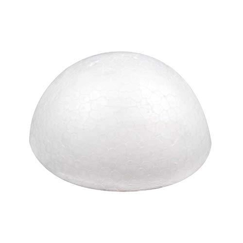 10 Styropor Halbkugeln 95 mm Vollform Styroporform weiß Rohling
