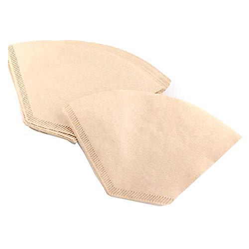 WeFine Kaffeefilter-Papier, Einweg-Papier, ungebleicht, geeignet für Kaffeemaschinen und Kaffeekapseln, 100 Stück, Größe 4 (4)