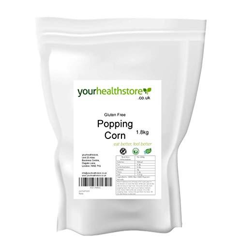 yourhealthstore - Semi di mais senza OGM, semi di popcorn, 1,8 kg, senza glutine, vegano (sacchetto riciclabile)