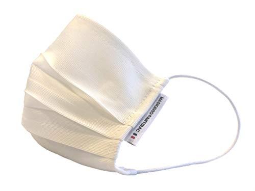 MASKAVIO® - Pack de 5 masques tissus Forme Chirurgicale - Taille Enfant Antibactérien CATEGORIE 1 (UNS1) - Lavables 250 fois (5x50)- Monocouches confortables et légers - Made in France