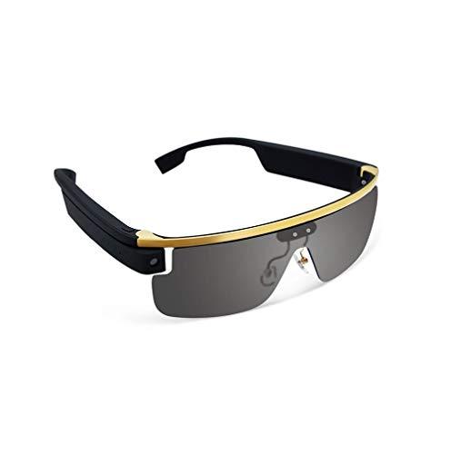 SMSOM Gafas inteligentes HD Video deportivo al aire libre Cámara de grabación Bluetooth Teléfono móvil Live Smart Cámara Gafas Abrir Oreja Audio Gafas de sol para deportes al aire libre, Equitación, P