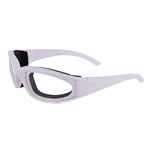 Yunnuopromi Lunettes de sécurité pour oignons, protection des yeux, ustensile de cuisine pour trancher et couper les oignons Blanc