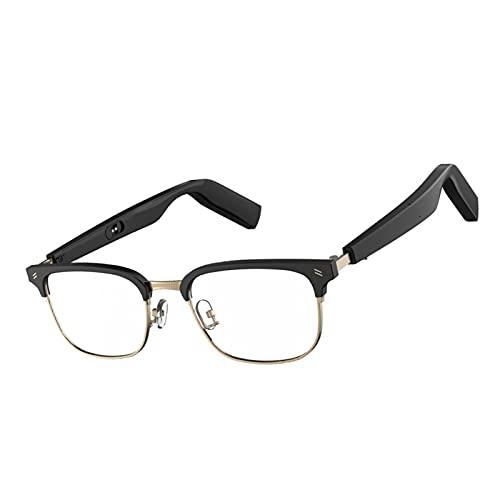 MERIGLARE Gafas Inteligentes con Gafas de Audio Incorporadas de Micrófono Inalámbrico para La Reunión de Viaje