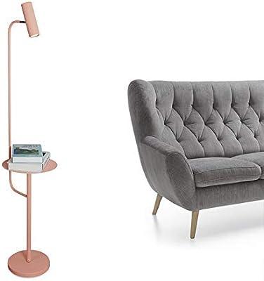 FWZJ Lampadaire LED avec étagères, Lampadaire à Commande Tactile Moderne avec télécommande, Dimmable, 3 températures de Couleur, 12W, Lampe sur Pied réglable en métal pour Salon, Chambre à Couche
