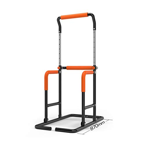 Pull-up Device Dip Stands Indoor Pull-ups Multi-Function Single Parallel Bars Sports Fitness Equipment Pull up Bars Boxing sandbag Rack (Color : Black, Size : 87 * 58 * 207cm)