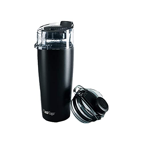 FlasKap MADIC/VOLST Combo Drinking System. Comes With Madic 6 Tumbler Lid and Volst 22 oz Insulated Tumbler. Spill Proof, Cupholder Friendly.
