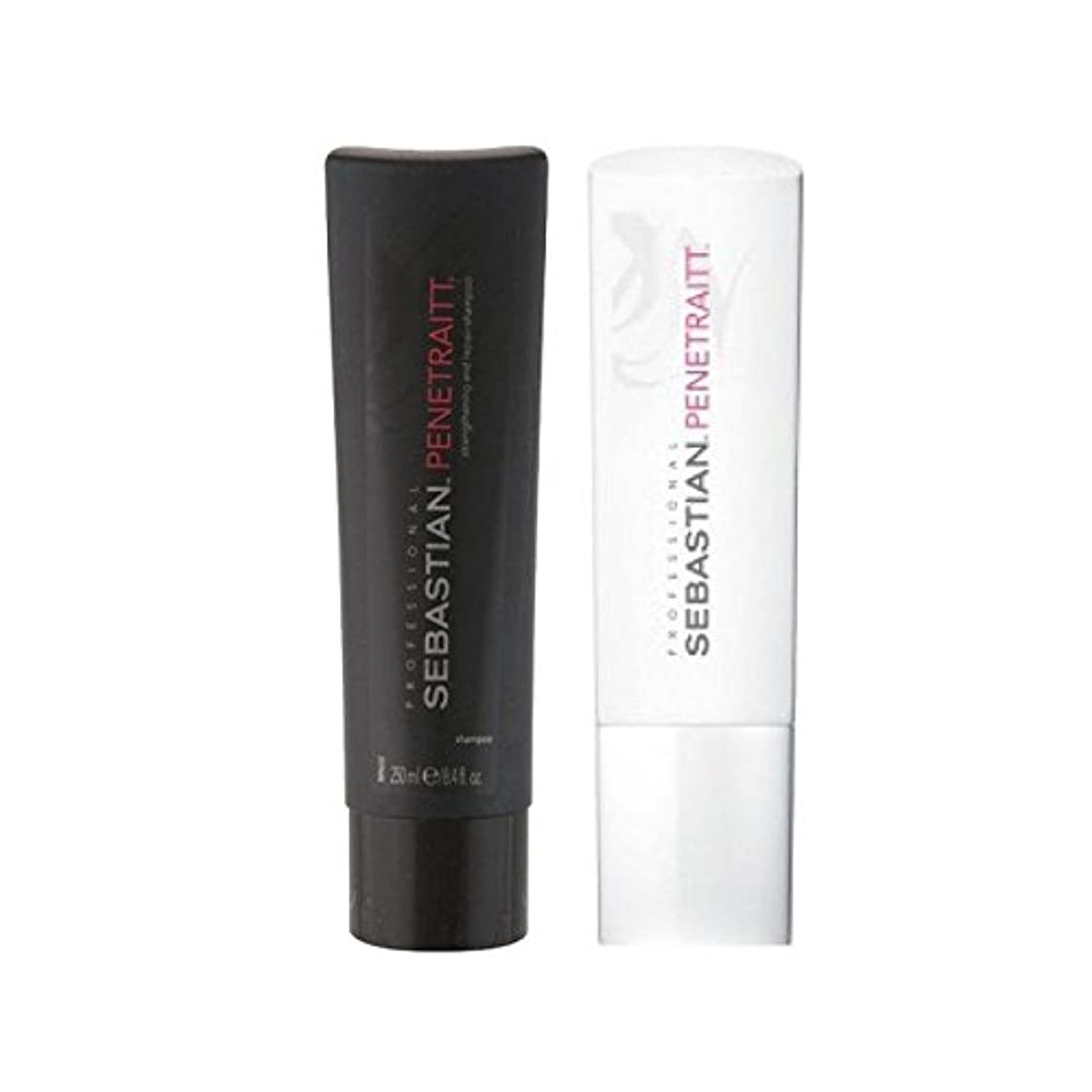 なくなる織機極小セバスチャンプロデュオ - シャンプー&コンディショナー x2 - Sebastian Professional Penetraitt Duo - Shampoo & Conditioner (Pack of 2) [並行輸入品]