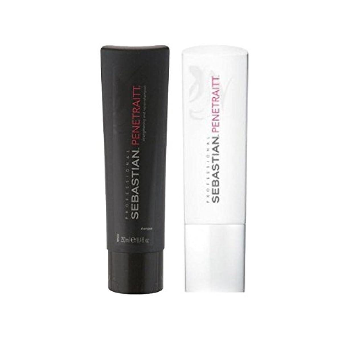 ポーン好意不正直セバスチャンプロデュオ - シャンプー&コンディショナー x4 - Sebastian Professional Penetraitt Duo - Shampoo & Conditioner (Pack of 4) [並行輸入品]