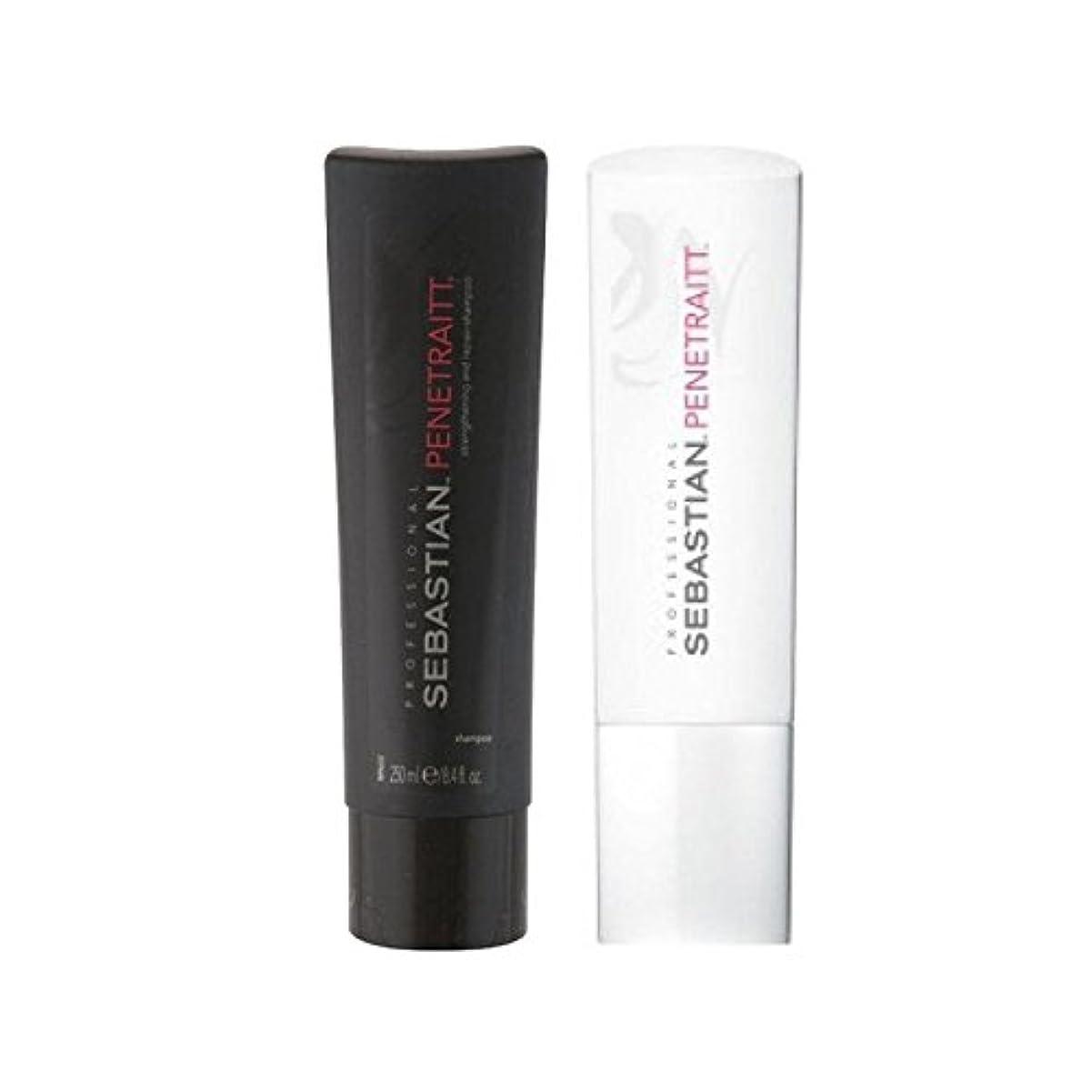 ラリーベルモント等々おんどりSebastian Professional Penetraitt Duo - Shampoo & Conditioner (Pack of 6) - セバスチャンプロデュオ - シャンプー&コンディショナー x6 [並行輸入品]