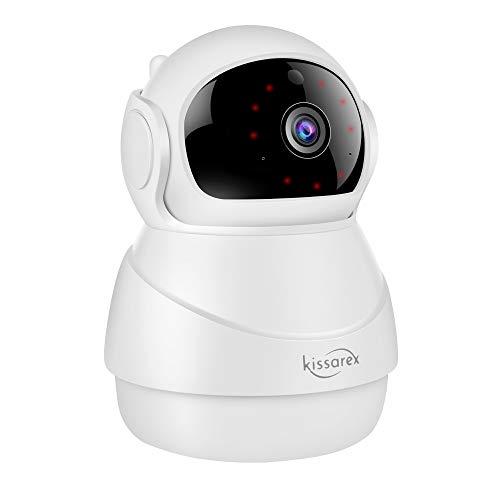 Kissarex Cámara inalámbrica WiFi para mascotas: interior 1080p HD visión nocturna monitoreo movimiento para Pan zoom de audio vídeo aplicación de Internet remoto inteligente sistema de vigilancia IP