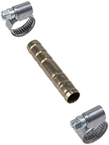 Cornat Schlauchverbinder Ø 10 mm - Mit 2 Schlauchschellen Ø 10 - 16 mm (3/8 Zoll) - Aus Messing / Schlauch-Verbindungsstück / Schlauchanschluss / Schlauchverlängerung / TEC308400