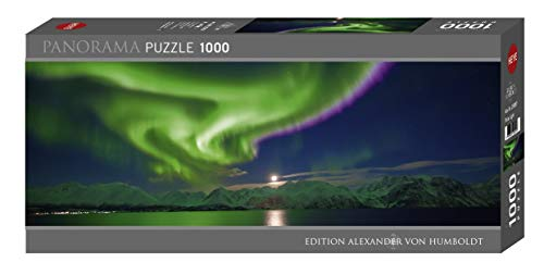 Heye 298579 Polar Light, 1000 Teile Panoramaformat Puzzle, Silver