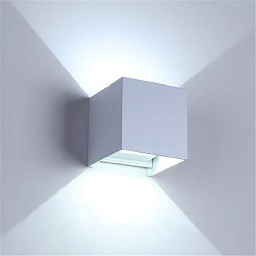 XUEE Modern design van de kapstok waterdicht van aluminium IP65 wandlamp LED zwart 12 W met voor de tuin van de slaapkamer