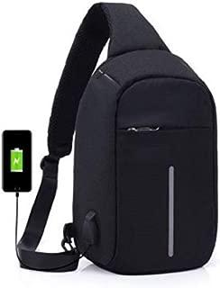Multifunctional digital storage chest bag anti-theft handbag shoulder bag man Sports Backpack-black