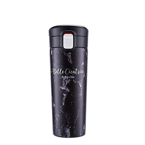 Tasse Thermos Couple De Tasse Noire Modèles Tasse d'eau Tasse À Café Portable 470Ml