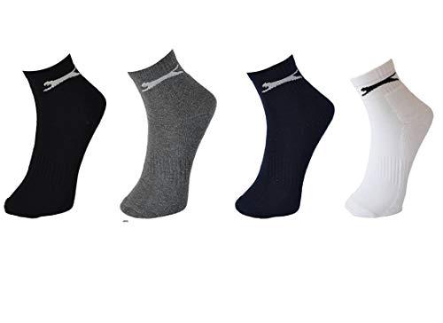 Slazenger Damen, Herren Wintersneaker Socken mit höherem Bund, Schwarz, Weiß, Grau, Blau in 35-38, 39-42 und 43-46 (43-46, 12 Paar Schwarz)