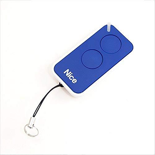 Nice Era-Inti - Mando a Distancia Original de 2 Botones, 433,92 MHz, código Variable Que sustituye a Nice Very VR – One ON1 ON2 y Flor FLO2R-S FLO1R-S abridor de Puerta (Azul)