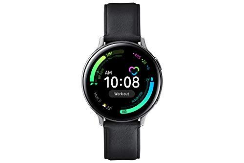 Samsung Galaxy Watch Active2, Fitnesstracker aus Edelstahl, großes Display, ausdauernder Akku, wassergeschützt, 44 mm, Bluetooth, Silber