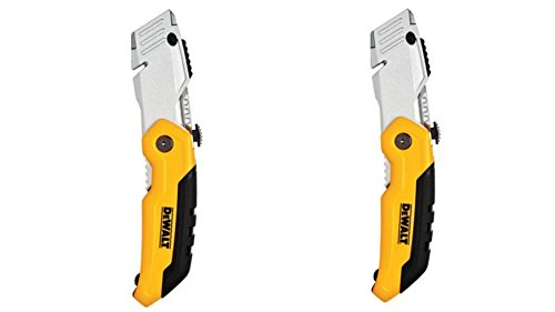 DEWALT DWHT10035L Folding Retractable Utility Knife (Pack of 2), Black / Yellow