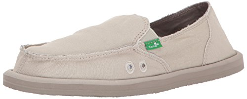 Sanuk womens Donna Daily Slip On Loafer, Natural, 8 US