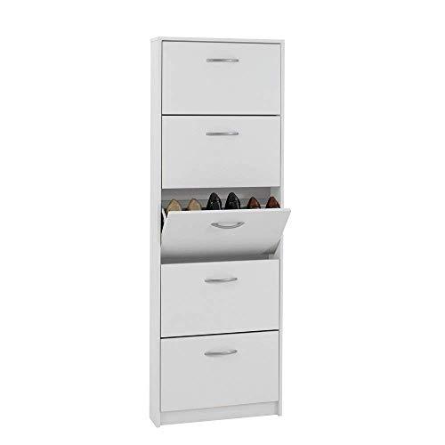 FMD furniture Schuhkipper, Spanplatte, Weiß, ca. 58,5 x 168,3 x 17