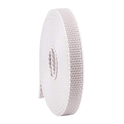 Rollladengurt 14/15 mm in Grau, 6m MADE IN GERMANY, Gurtband für Rolladen und Jalousie, Mini Rolladengurt strapazier- und reißfest, stabiles Rolladenband