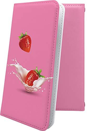 スマートフォンケース・jetfon P6 / jetfon マルチタイプ マルチ対応ケース・互換 ケース 手帳型 果物 イチゴ ジェットフォン 食べ物 jet fon jetfone jetfonp06 苺