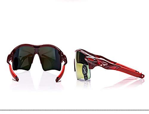XRX 1Psc Gafas de sol ultraligeras con lentes UV400 para ciclismo, ciclismo de montaña, deportes al aire libre, senderismo, equitación, pesca en el mar, senderismo, tiempo libre (rojo)