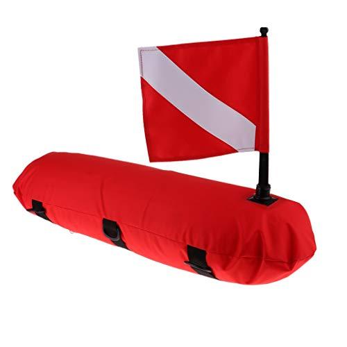 MOUNTAIN MEN Visible Alta del Flotador de la señal de la Bandera de Buceo Snorkel Premium Superficie boya de señalización de Deportes acuáticos de Buceo Natación Piscina Accesorios (Color : Red)